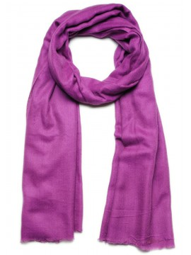 Handwoven cashmere pashmina Shawl Amethyst violet