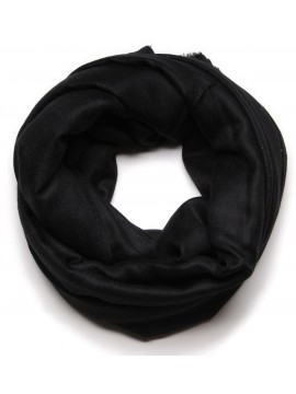 Genuine handwoven cashmere pashmina XXL scarf black