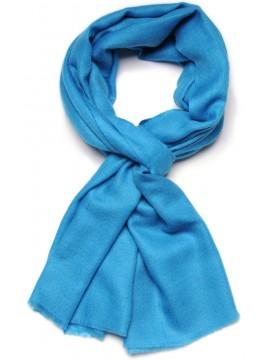 Handwoven cashmere pashmina Stole Turquoise blue