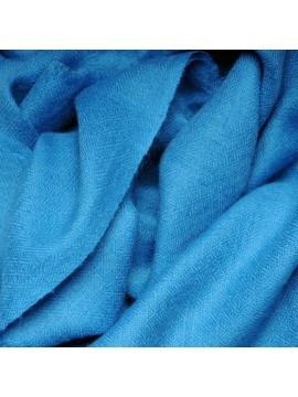 Véritable Pashmina 100% cachemire Bleu turquoise
