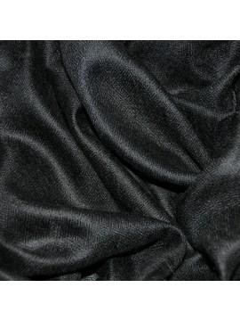 Le Carré Véritable Pashmina cachemire noir tissé main