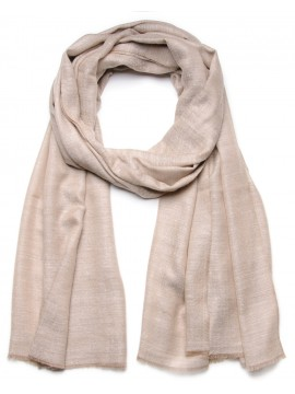 Genuine pashmina shawl 100% cashmere natural light beige big size