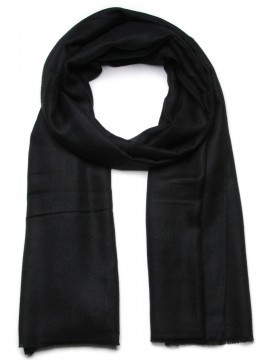 Handwoven cashmere pashmina Shawl Black