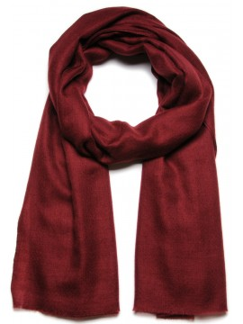 Handwoven cashmere pashmina Shawl Brick red