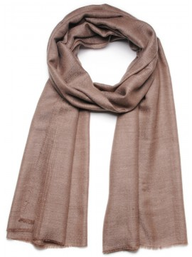 Handwoven cashmere pashmina Shawl Natural dark brow