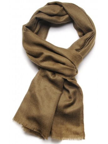Handwoven cashmere pashmina Stole Army green
