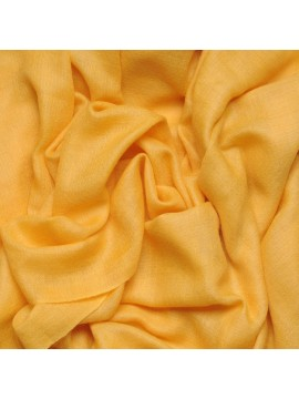 Handwoven cashmere pashmina Stole Saffron yellow