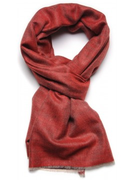 REVA RED/BLACK, Handwoven cashmere pashmina Stole dual shaded