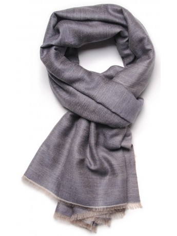 REVA GREY, Handwoven cashmere pashmina Stole dual shaded