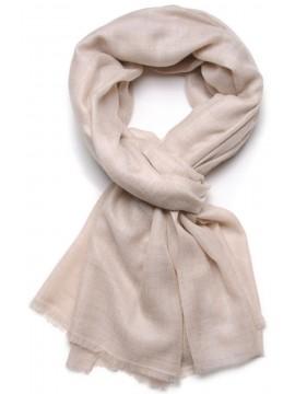 TOOSH PASHMINA Natural light beige Deluxe handwoven cashmere pashmina