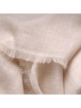 TOOSH PASHMINA Natural light beige Deluxe handwoven cashmere pashmina