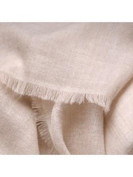 TOOSH PASHMINA Natürliches Hellbeige 100% handgewebter Kashmir