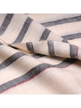 ARMOR CLASSIC, real pashmina 100% cashmere with breton stripes