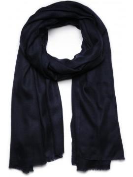 Handwoven cashmere pashmina Shawl Night blue