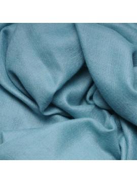 Véritable Pashmina 100% cachemire LeChâle Bleu rivière