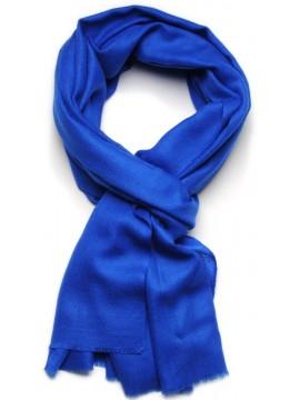 Handwoven cashmere pashmina Stole Cobalt blue