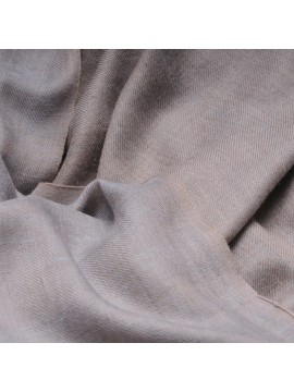 SWAN BLUE GREY, Handwoven cashmere pashmina Shawl reversible