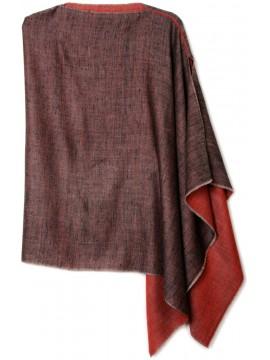 Handwoven cashmere pashmina Poncho PABLO RED