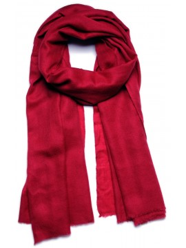 Handwoven cashmere pashmina Shawl Carmine red