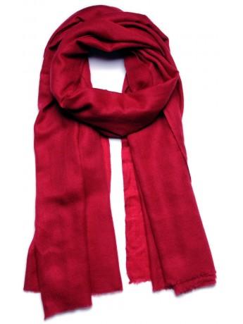 Genuine pashmina shawl 100% cashmere carmine red big size