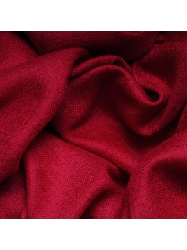 Véritable Pashmina 100% cachemire Rouge carmin Grand modèle