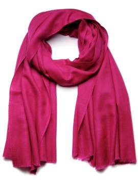Handwoven cashmere pashmina Shawl Fuchsia pink