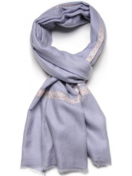 ASHA SKY, real pashmina 100% cashmere with handmade embroideries