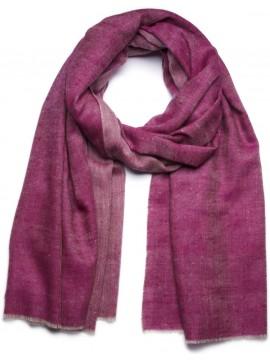 SWAN FUCHSIA, Handwoven cashmere pashmina Shawl reversible