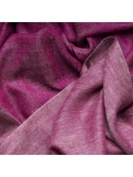 SWAN FUCHSIA, châle véritable Pashmina 100% cachemire réversible