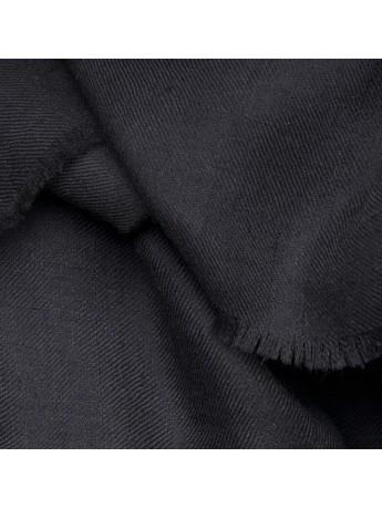TOOSH PASHMINA Black Deluxe handwoven cashmere pashmina