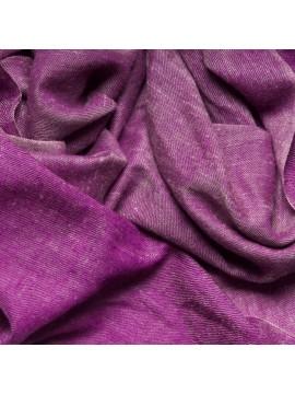 SACHA PLUM, Handwoven cashmere pashmina Stole REVERSIBLE