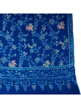 JULIE BLUE, real pashmina 100% cashmere with handmade embroideries
