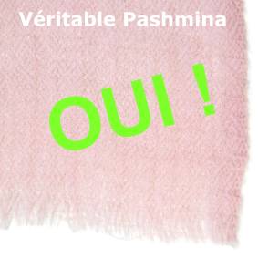 Le vrai pashmina sera tissé main au cachemire indien à partir de duvet de pashmina pur cachemire récolté au Ladakh à plus de 4500m d'altitude